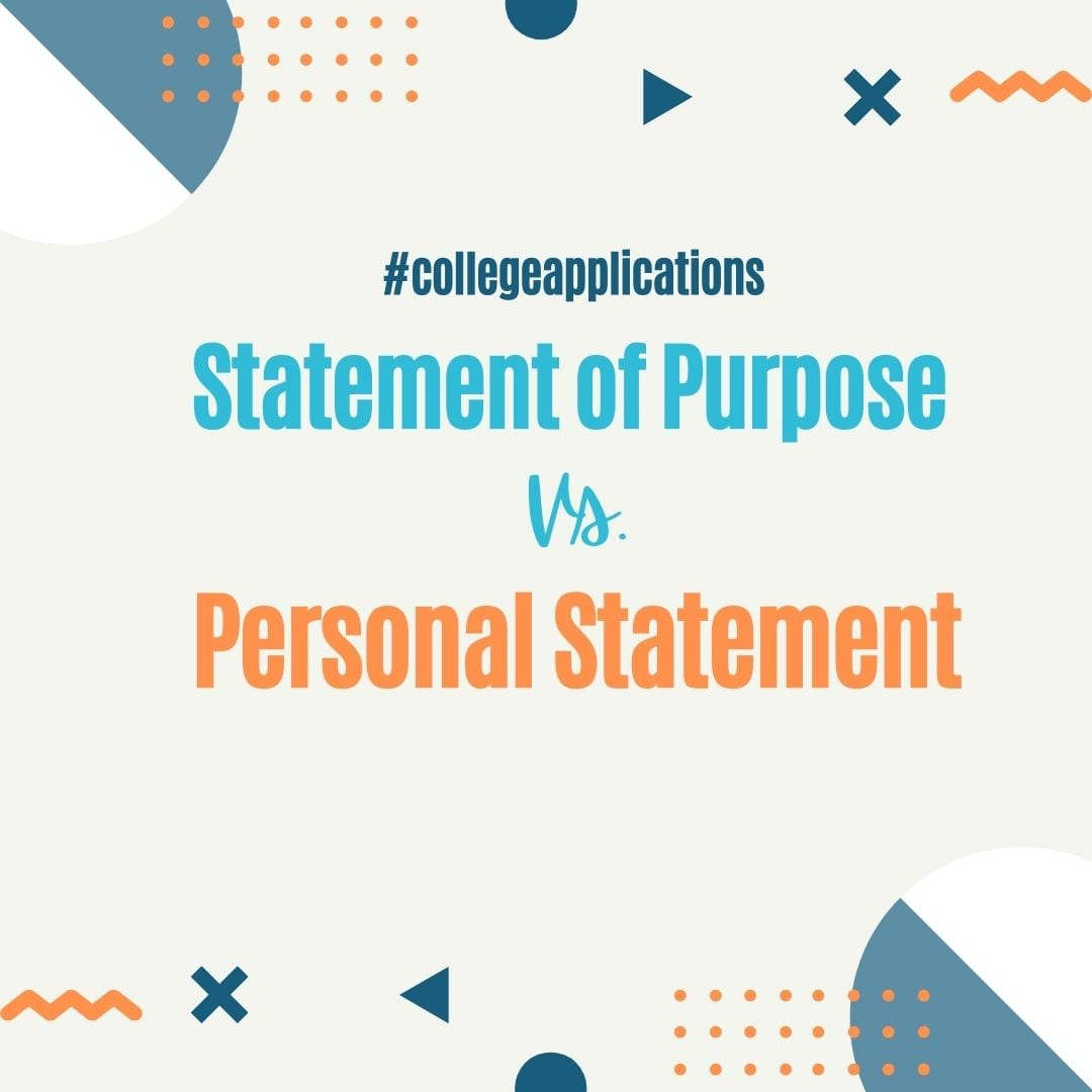 Difference between a statement of purpose and a personal statement